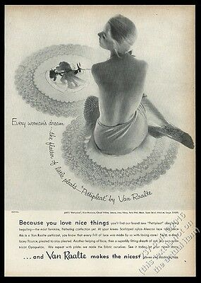 1955 Van Raalte lingerie woman in petticoat photo vintage print ad