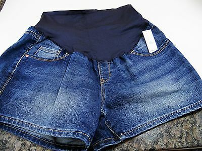 NWT OLD NAVY Maternity Denim Jean Shorts Size 12 Full Panel