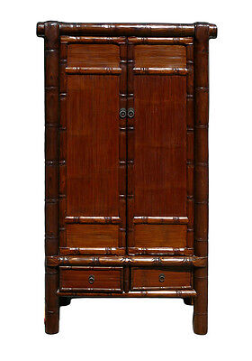 Chinese Solid Wood Carved Bamboo Simulated Cabinet Armoire cs618