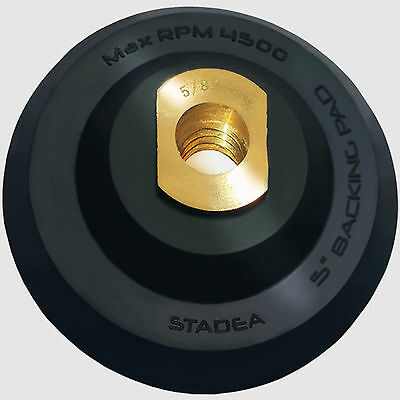 "Stadea 5 inch Rubber Backing Pad Flexible Backer Pad with Backing 5/8"" 11 Thread"