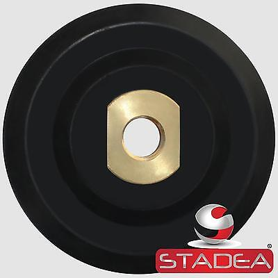 "Stadea 4 inch Rubber Backing Pad Rigid Backer Pad with Backing 5/8"" 11"