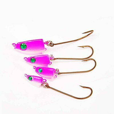 5PCS soft lure Painted Jig Heads Fishing Hooks Lures Bait 7g 14g 21g 45g