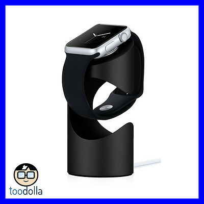 Just Mobile TimeStand - aluminium desktop charging pedestal, Apple Watch, Black