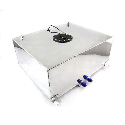 20 Gallon / 76 Litre Lightweight Polished Aluminum Fuel Cell w/ Sender