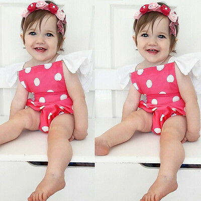Newborn Baby Girl Jumpsuit Toddler Infant Bodysuit Outfit Romper Clothes 0-24M