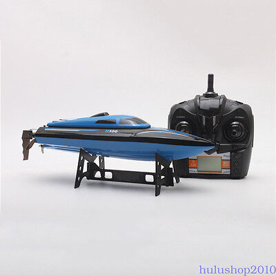 Blue 4CH 2.4G Cooling High Speed Racing Remote Control RC Boat Toy Water Fashion