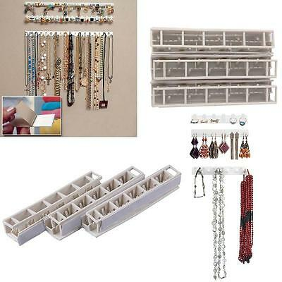 9pc Jewelry Earring Organizer Hanging Holder Necklace Display Stand Rack Hook BO