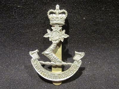Royal Military College of Canada Post WWII White Metal Cap Badge