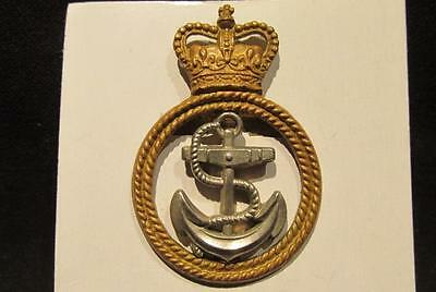 Royal Navy Petty Officer VF Post-WWII Queens Crown Double Slider Cap Badge