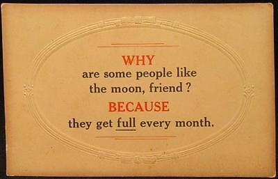 Humorous 1913 Used Souvenir Postcard with Riddle & Mount Brydges Sq Circle Canc