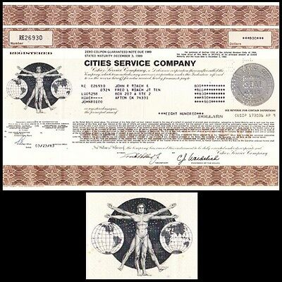 Cities Service Company 1983 Stock Certificate
