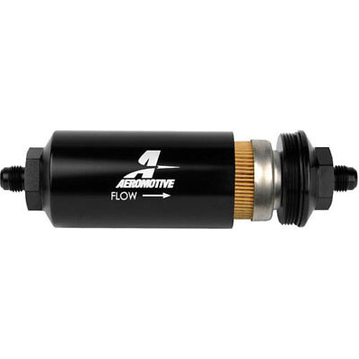 "Aeromotive 12347 In-Line Fuel Filter -6AN Male Inlet/Outlet Ports 2"" Diameter"
