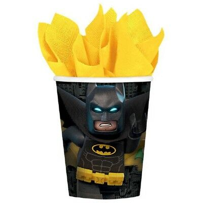 Lego Batman 9 oz Cups 8 Ct Paper Hot Cold Birthday Party