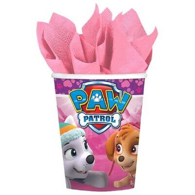 Paw Patrol Girl 8 9 oz Hot Cold Paper Cups Birthday Party