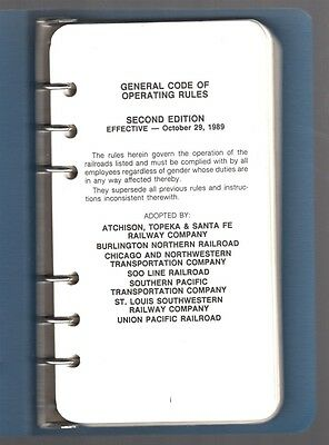 Railroad Train Manual:  General Code of Operating Rules - 1989 Union Pacific