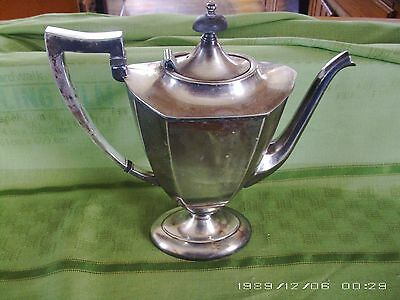Pitcher  Antique Early 1900 Silver Plate 10 Inches Tall