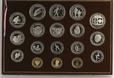 1984 Sarajevo Olympic Coin Full Proof Set Gold Dinar Silver Sterling Yugoslavia
