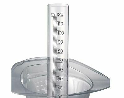 Goldwell measuring cylinder with Bottom valve 120 ml