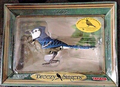 Takara Breezy Singers Bird Songs in Motion Blue Jay Authentic New in Box