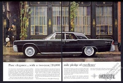1961 Lincoln Continental black car color photo vintage print ad