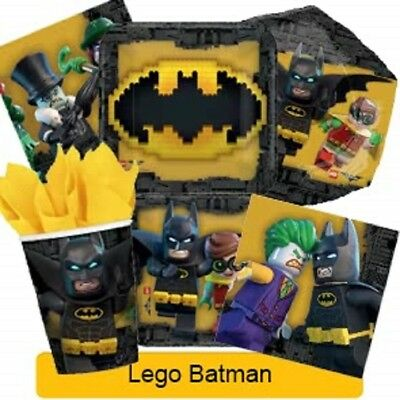 LEGO BATMAN Birthday Party Range - Tableware Balloons & Decorations {Amscan}