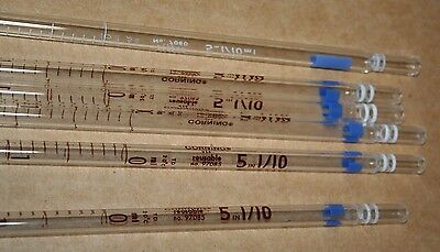 Lot of 4 FISHERBRAND® Serological Pipets, 5mL in 1/10, #13-675-K
