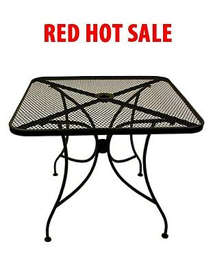 NEW 24x24 BLACK  OUTDOOR PATIO RESTAURANT TABLE FURNITURE