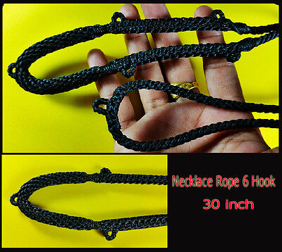 Thai Amulet Handmade Buddhist 6 Hook Wax Necklace Rope Pendants 30 Inches