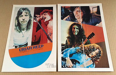1973 Uriah Heep 2pg JAPAN magazine photo pinup / mini poster / clippings u3m