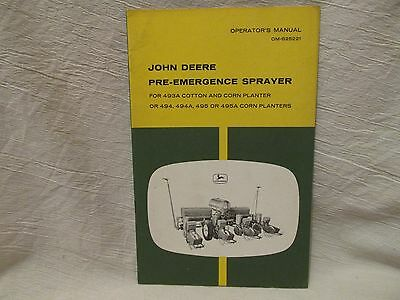 Vintage John Deere Operator's Manual Pre-Emergence Sprayer