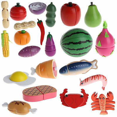 Kids Kitchen Food Toys Wooden Toys for Children Play House Birthday Gift Baby