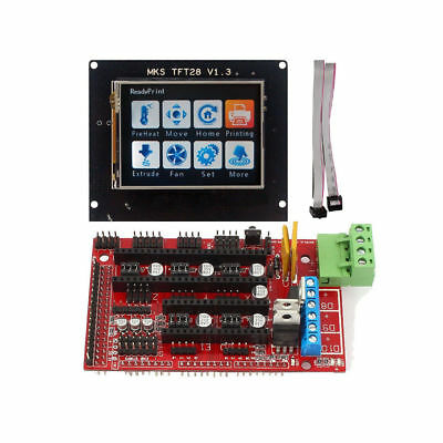 MKS TFT32 Touch Screen 3.2'' LCD Display + Ramps 1.4 Board for 3D Printer RepRap
