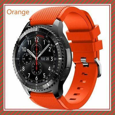 Orange Silicone Strap Wrist Band For Samsung Gear S3 Frontier Classic Watch