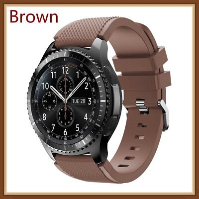 Brown Silicone Strap Wrist Band For Samsung Gear S3 Frontier Classic Watch