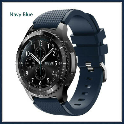 Navy Blue Silicone Strap Wrist Band For Samsung Gear S3 Frontier Classic Watch