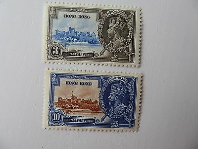 Hong Kong 1935 S Jubilee m/mint 3 and 10c values