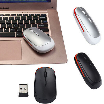 Slim 2.4GHz Wireless Optical Mouse Cordless Mice USB 2.0 Receiver For Laptop PC