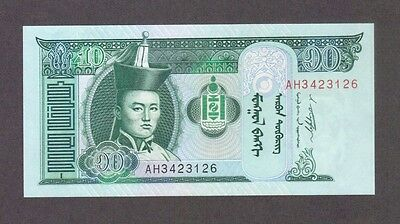 2011 10 Tugrik Genghis Khan Mongolia Currency Gem Unc Banknote Note Money Bill