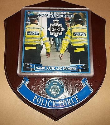 Police Community Support Officer Wall Plaque personalised free of charge.