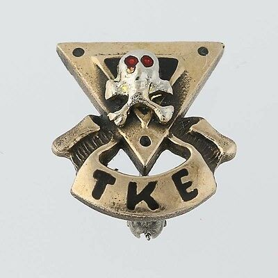 Tau Kappa Epsilon Skull Badge - Vintage Fraternity Badge Greek Society Pin
