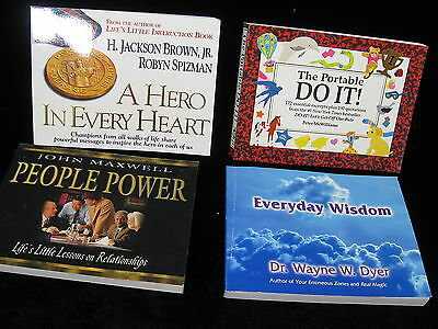 Lot 4 INSPIRATIONAL BOOKS paperback DYER, MAXWELL, BROWN, SPIZMAN, McWILLIAMS Li