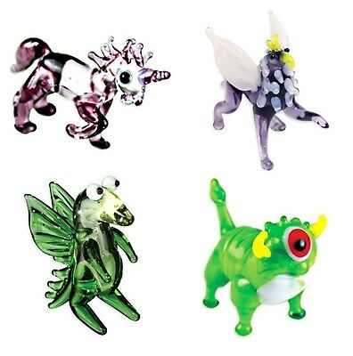 Looking Glass Miniature Collectible Set Cyclops, Unicorn, Griffin & Dragon (4-Pa