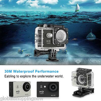 VIDEOCÁMARA CAMCORDER 12MP 30M 1080p Impermeable HDMI WiFi Sports ACCIÓN Cam EU