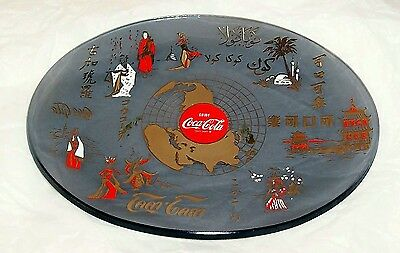"1967 Coca Cola Glass "" World Dish "" Oval Plate"