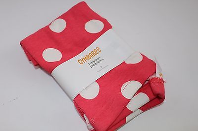 Gymboree Purrfectly Fabulous Girl's Size 5 NWT Leggings Dot White Coral NEW