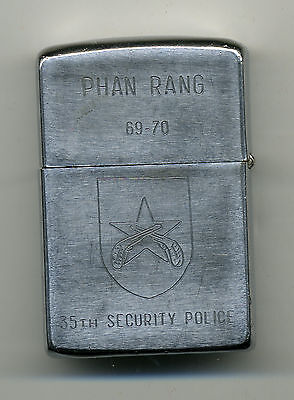 Zippo Lighter 1969 Vietnam 35th Security Police PHAN RANG Gene & Jackie Military