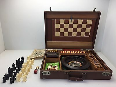 Vintage AP Games Casino Roulette Chess Set with Brief Case (K5)