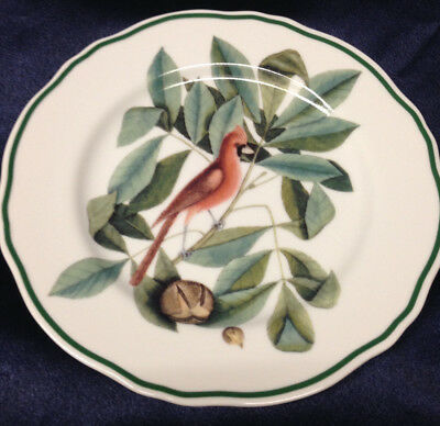 """Andrea By Sadek Catesby 8 1/4"""" Salad Dessert Plate The Red Bird"""
