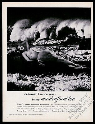 1961 Maidenform Bra woman as Siren photo vintage print ad