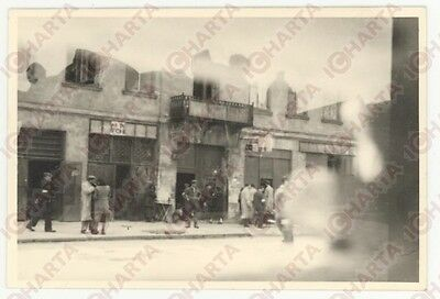1940ca VARSAVIA GHETTO EBRAICO Scene di vita quotidiana*REAL PHOTO cm 9X6